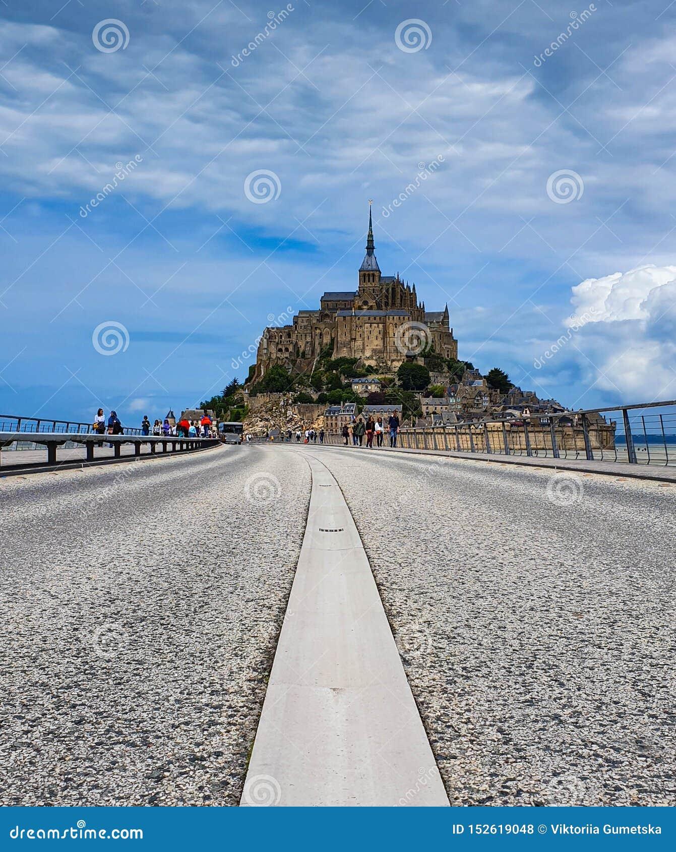 Mont Saint-Michel, Normandy, northern France. Summer 2019.