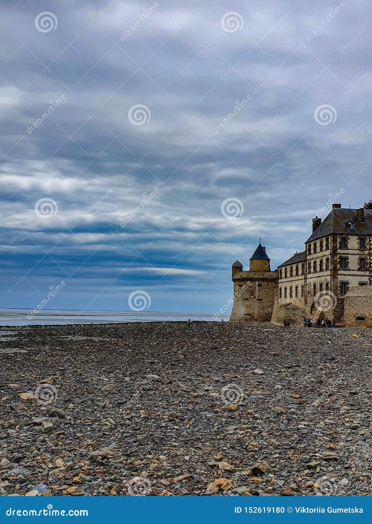 Mont saint-michel, Normandy, północny Francja Lato 2019