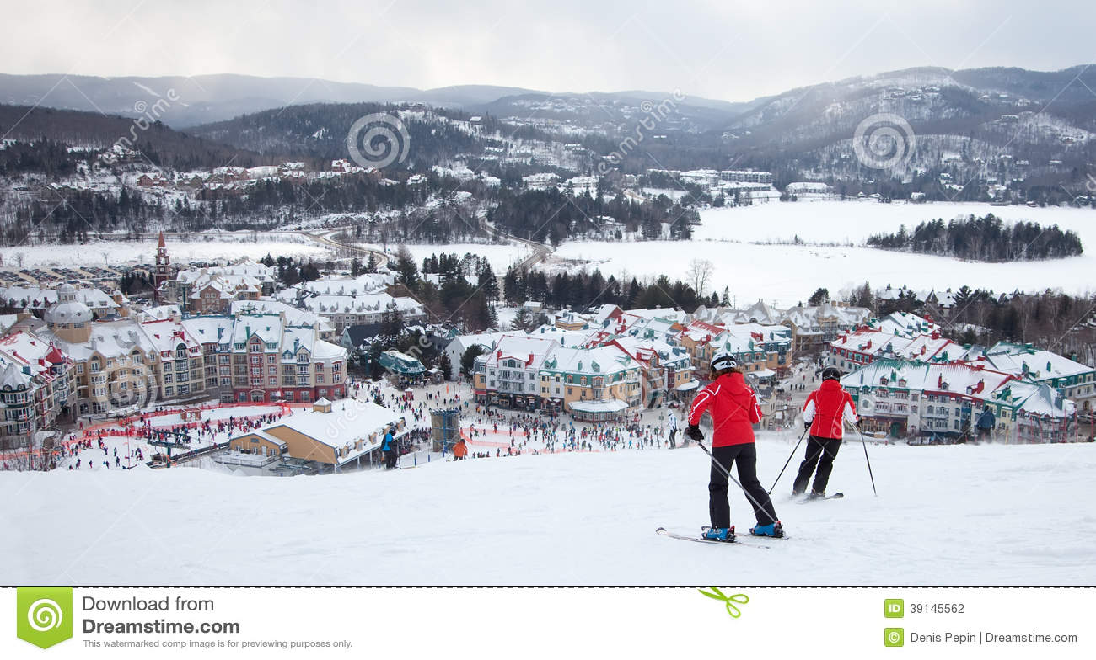 mont-tremblant ski resort, quebec, canada editorial photography