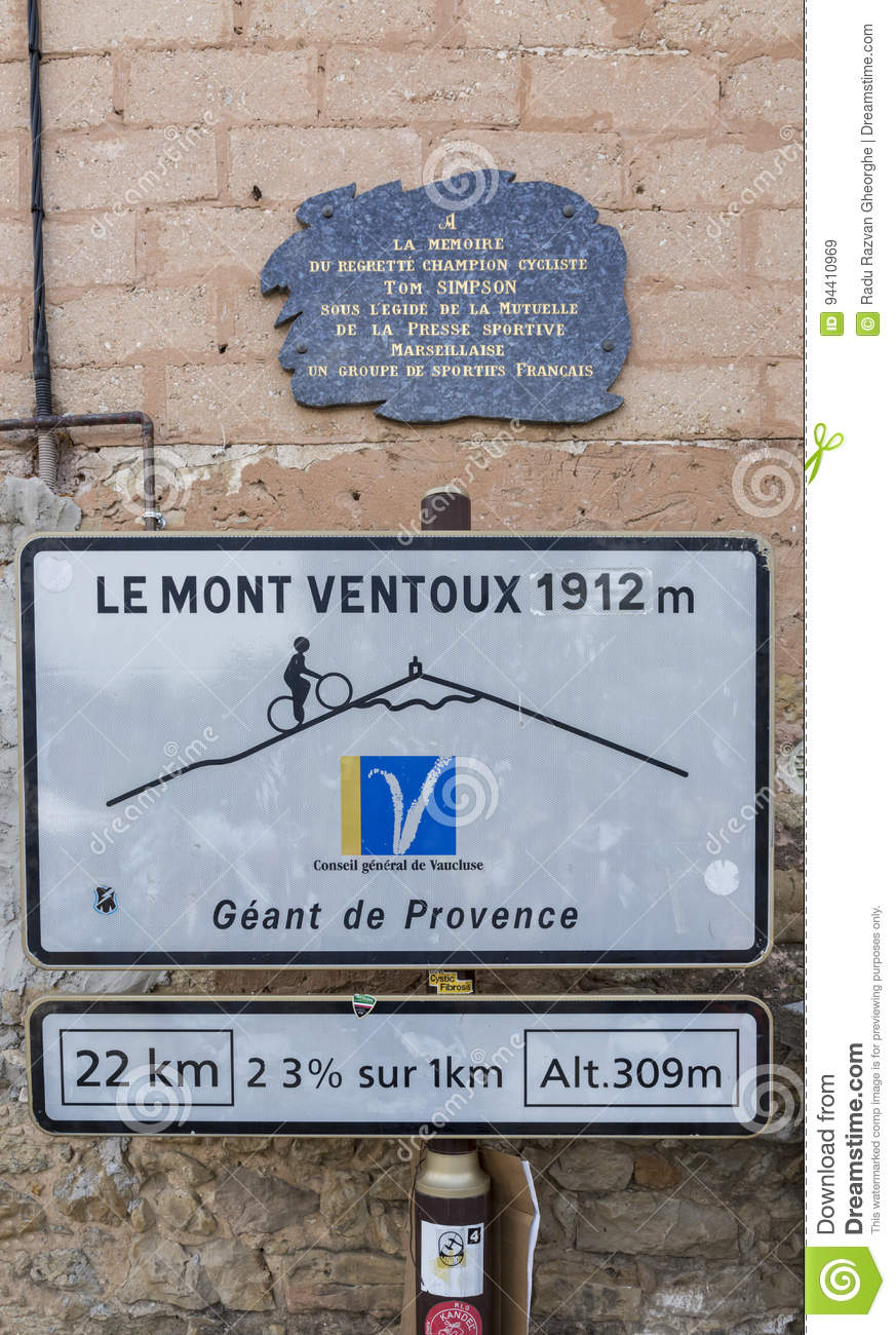 Mont Ventoux Road Cycling Signal