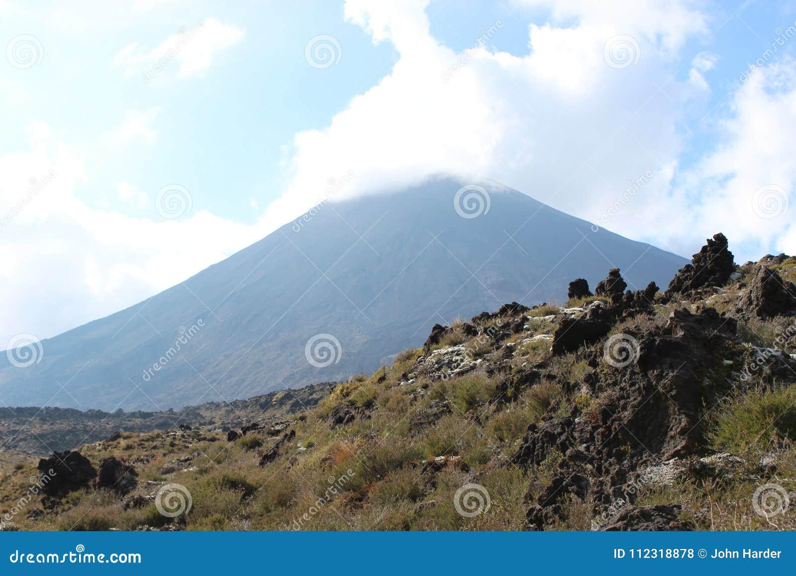 Montaña con las nubes
