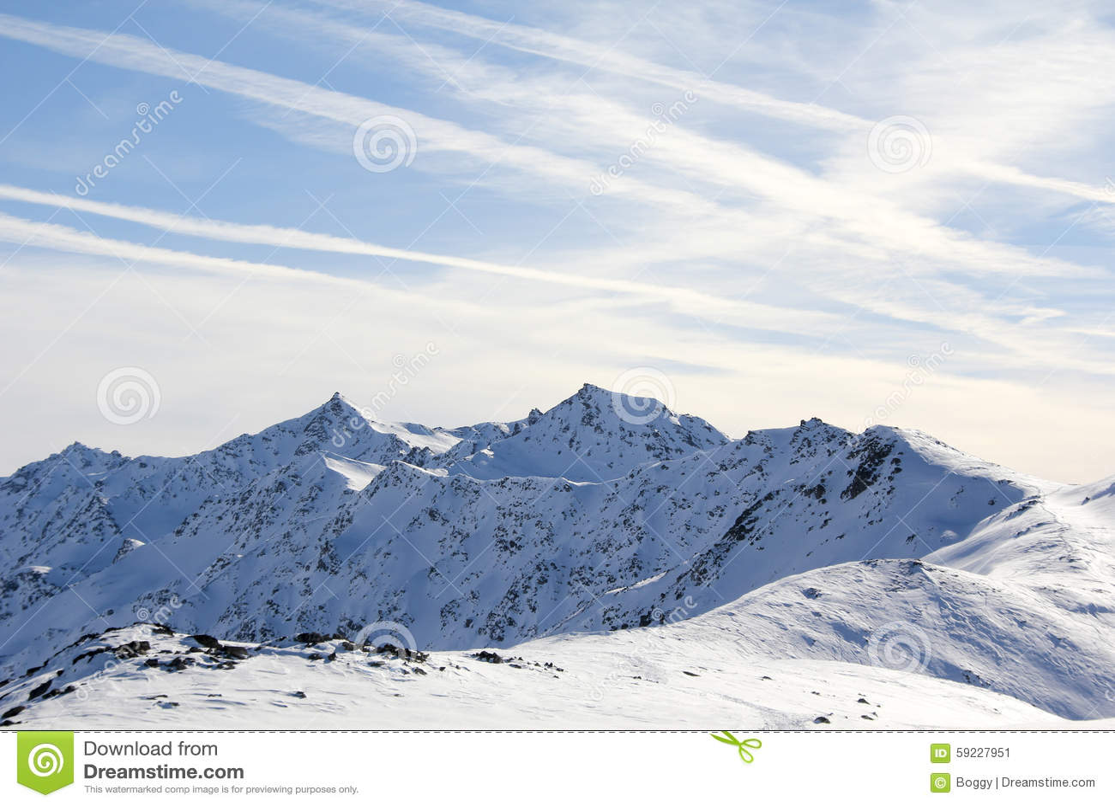 Montaña del invierno