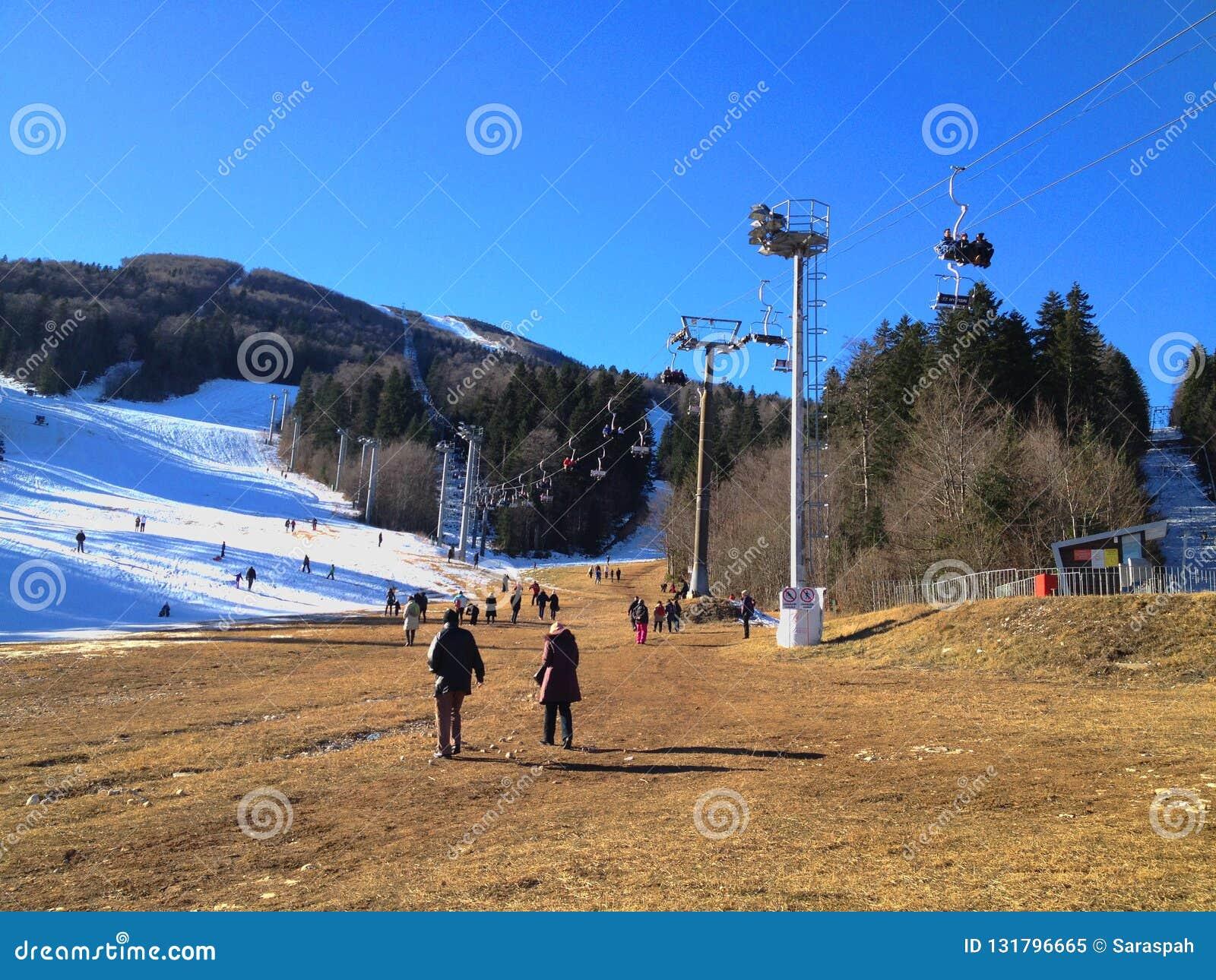 Montaña en invierno, Sarajevo de Bjelasnica
