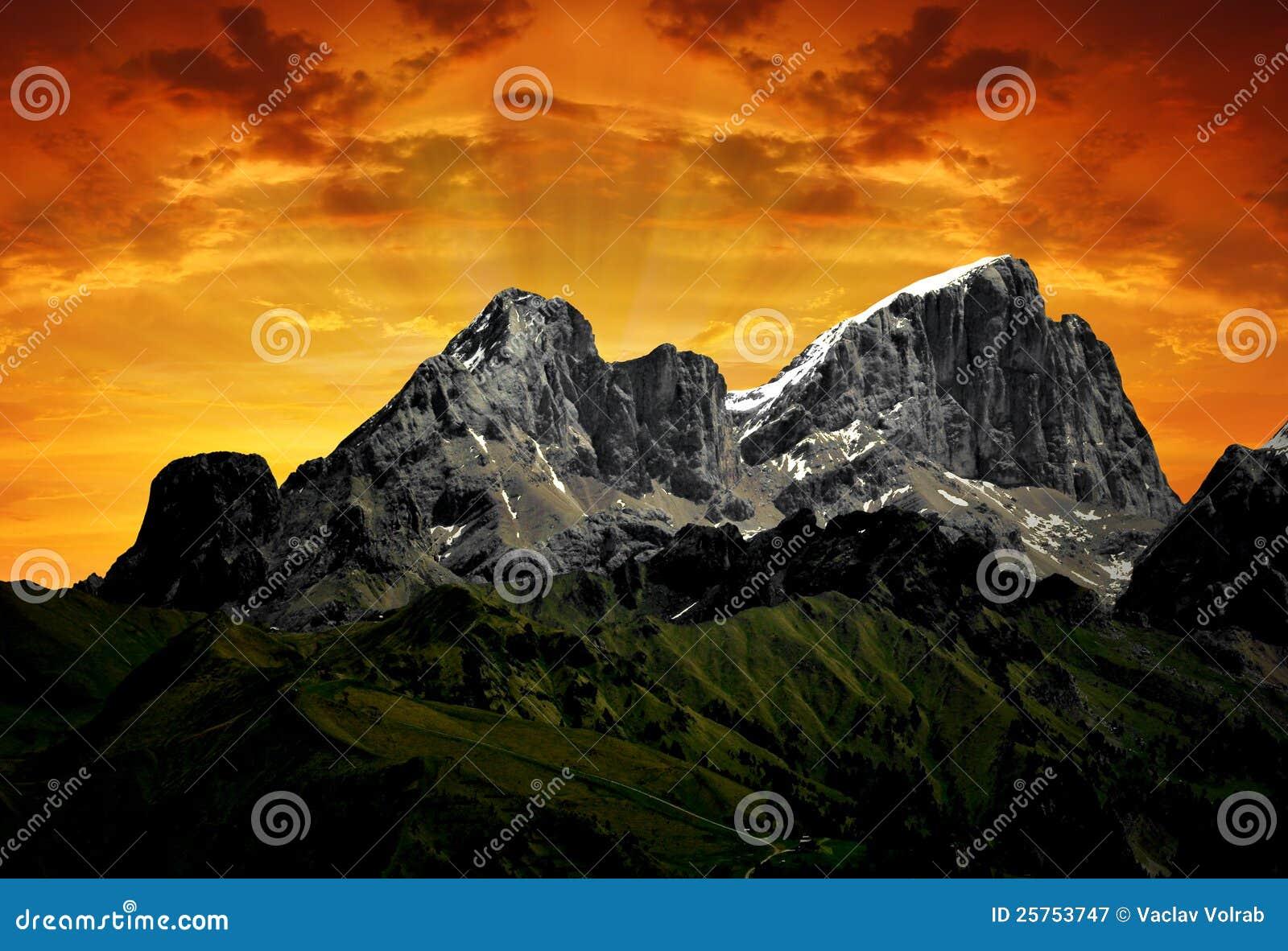 Montaña Marmolada - Dolomiti Italia