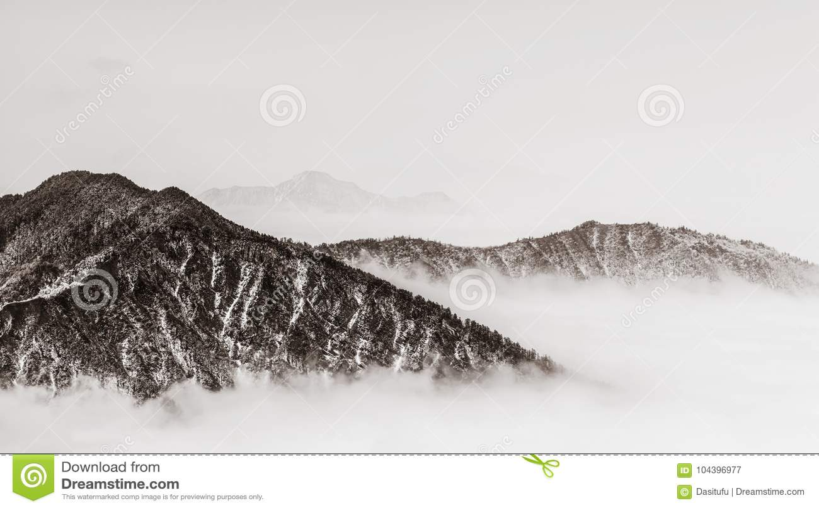 Montañas con estilo retro