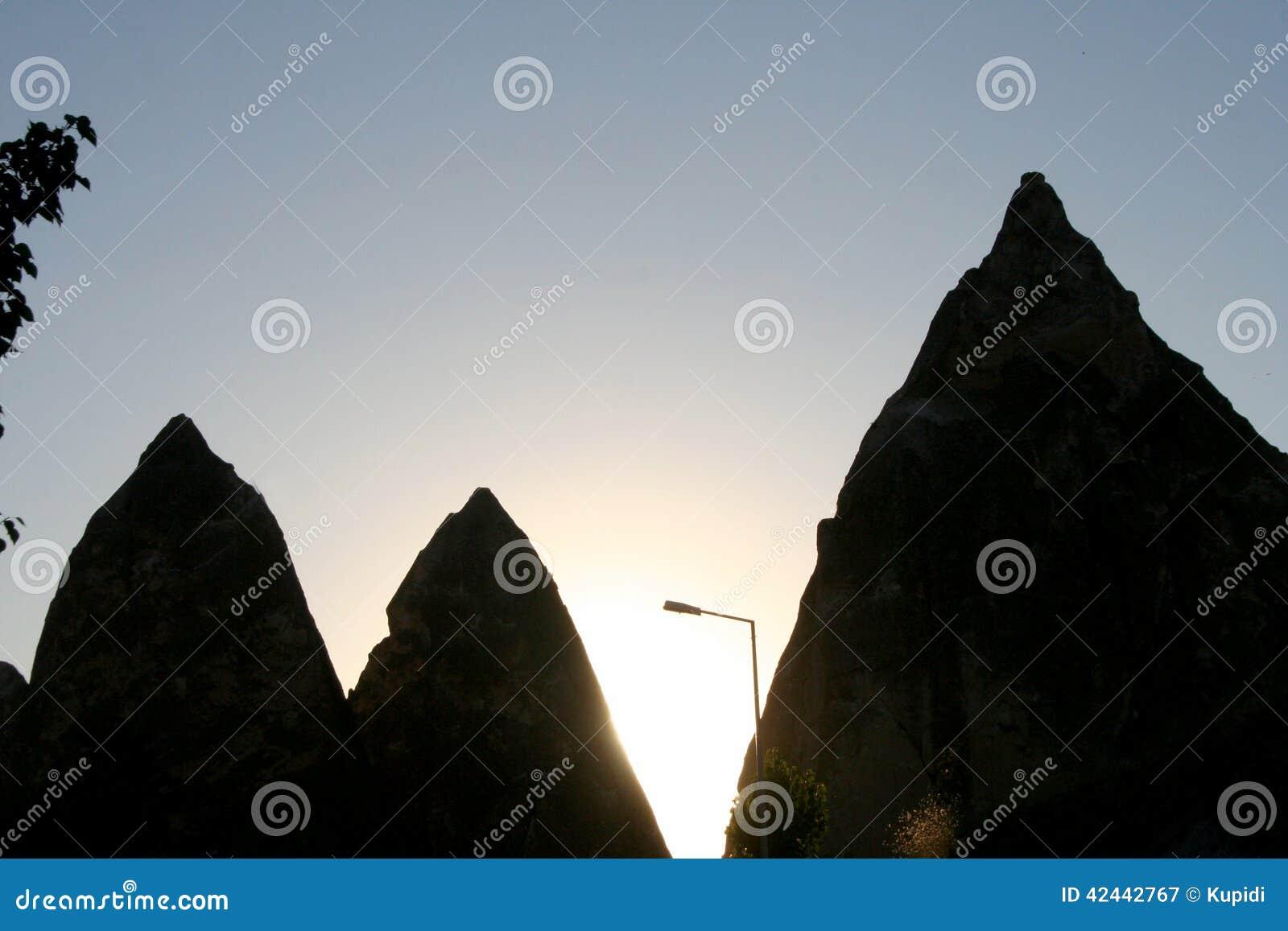 Montañas de Cappadocia en Goreme