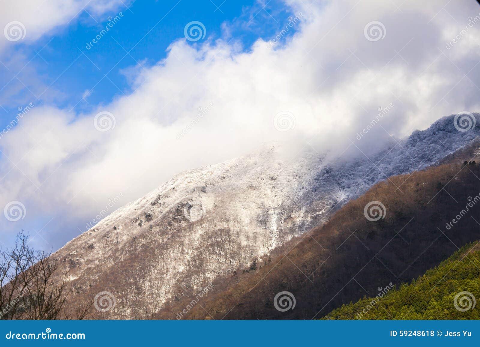 Montañas de la nieve en Japón