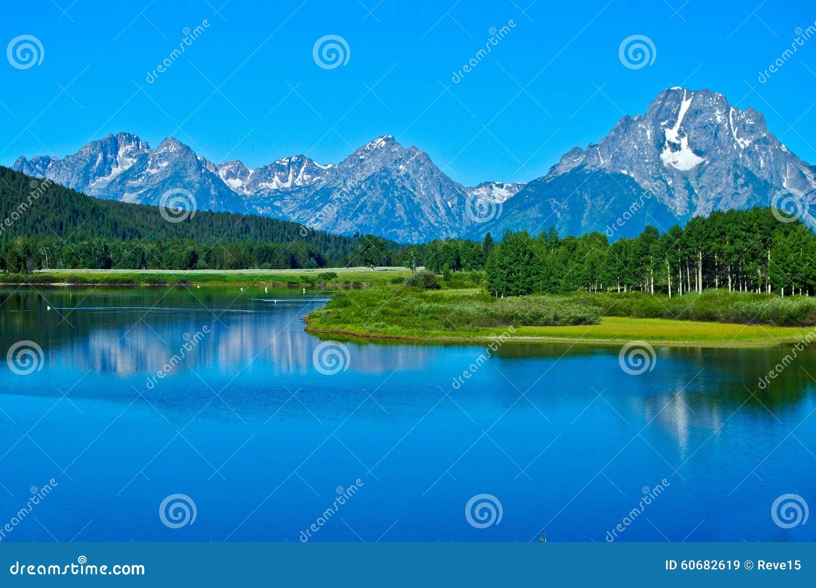Montañas de Teton y el río Snake