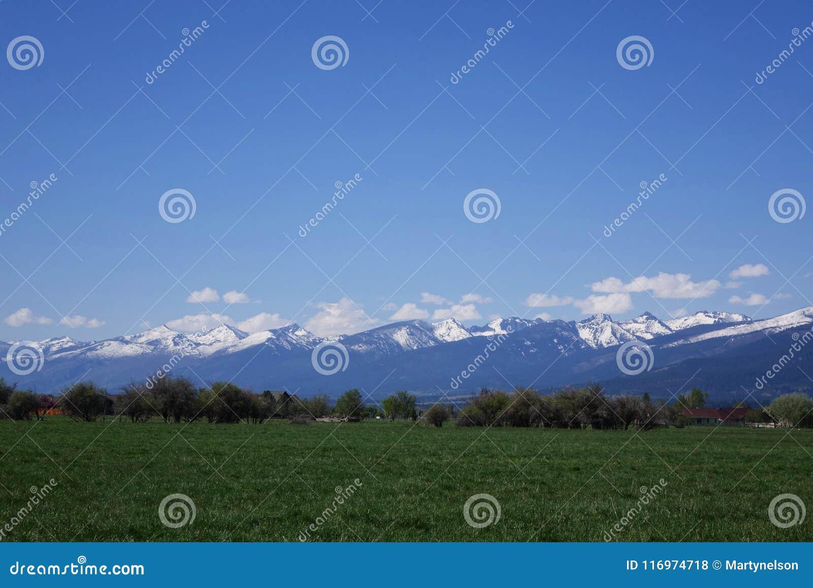Montañas del Bitterroot cerca de Hamilton, Montana