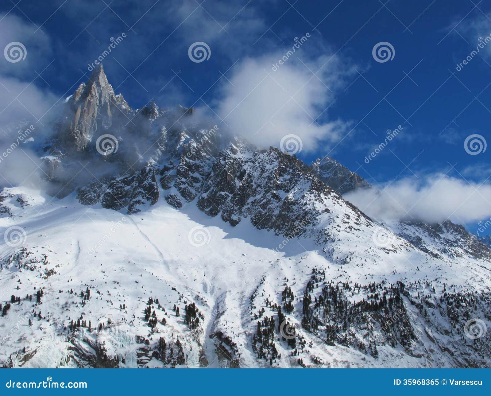 Montañas francesas en invierno, Chamonix