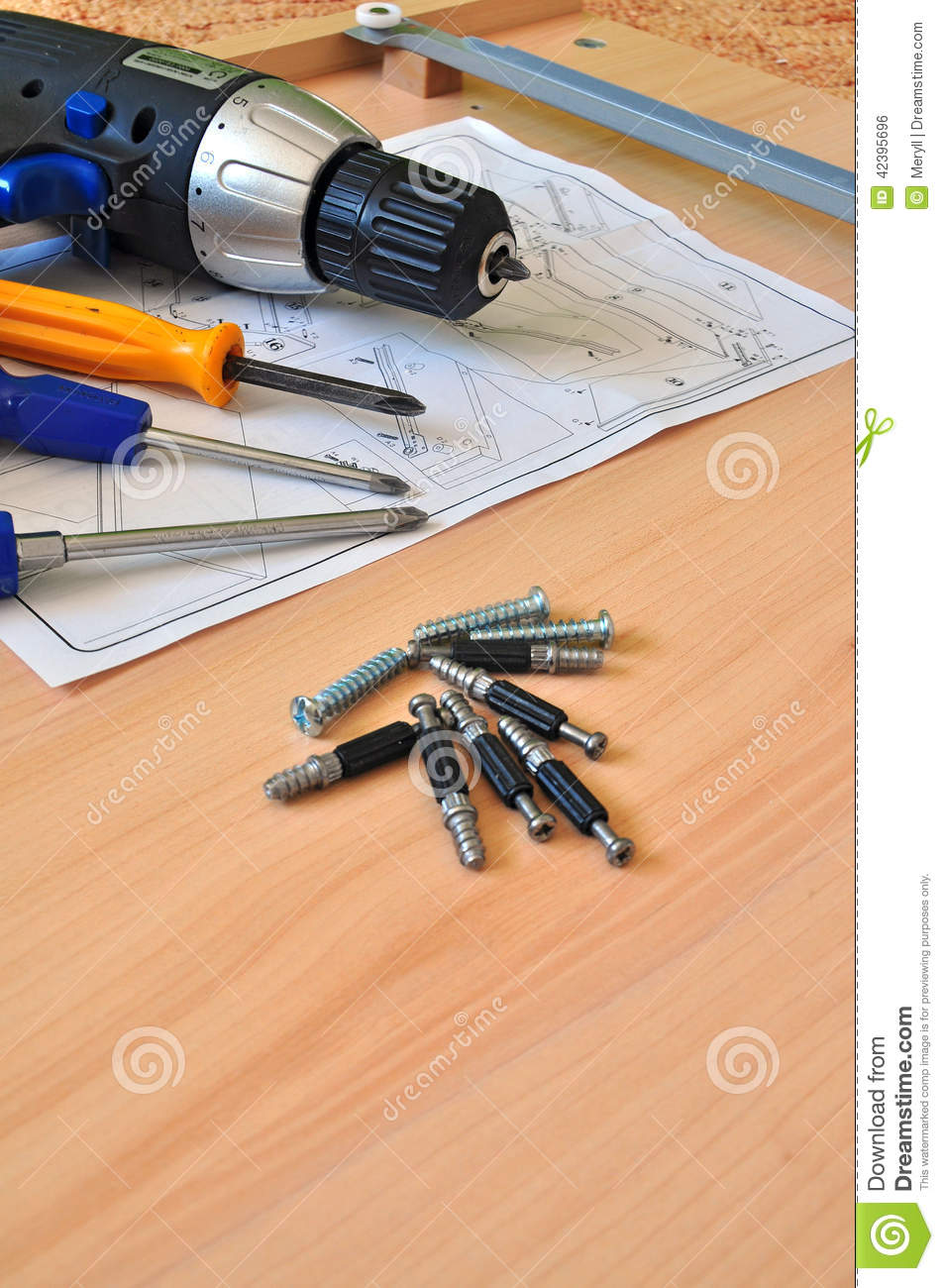 Assemblingembly Furniture Montage. Montageembly Tools Stock Photo Image  42395696