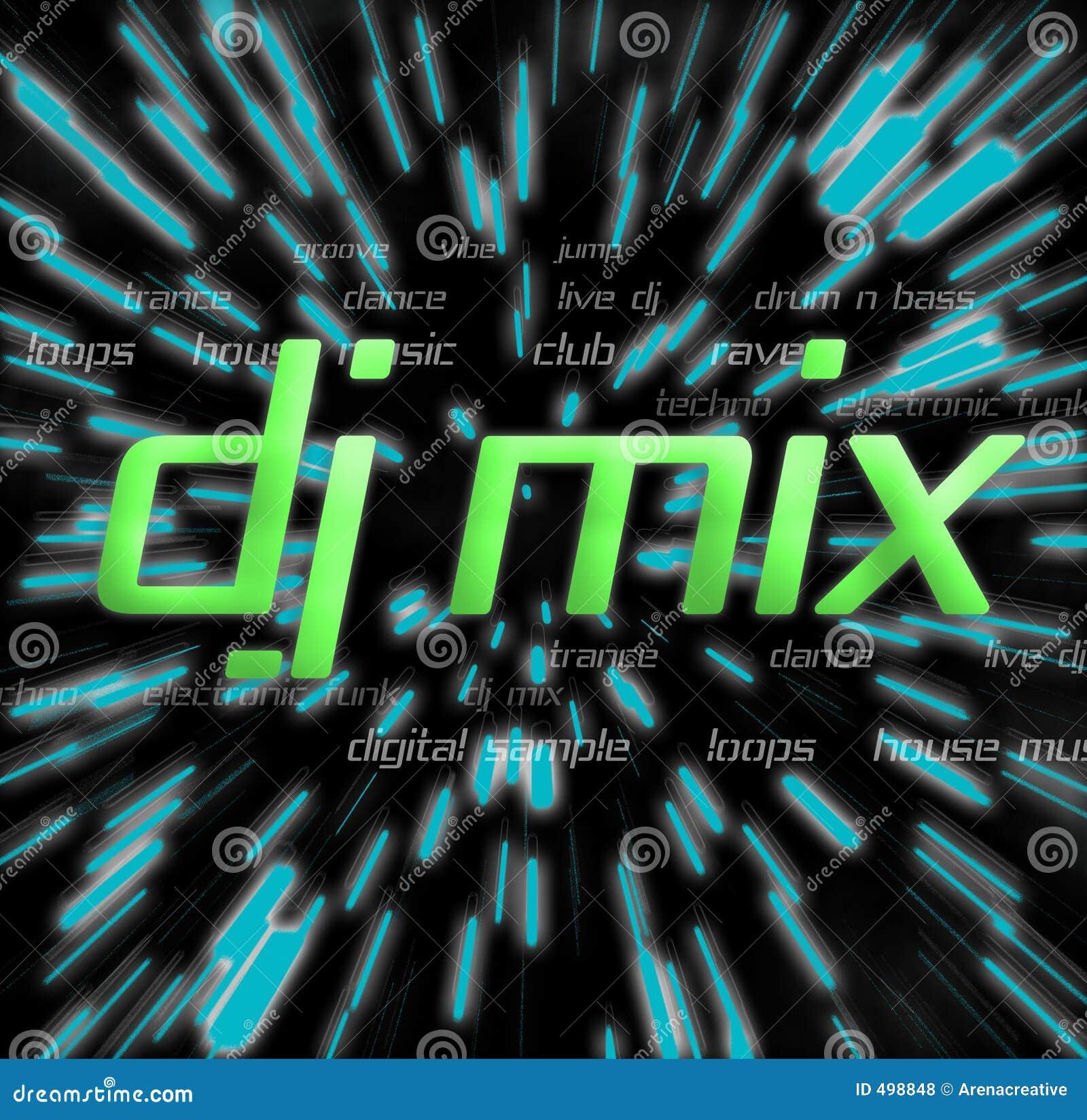 Montage de mélange du DJ