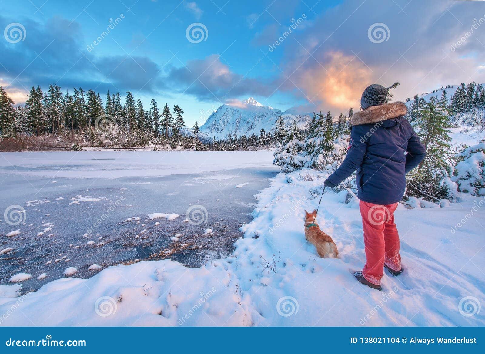 Montagem Shuksan e lago picture no padeiro Wilderness