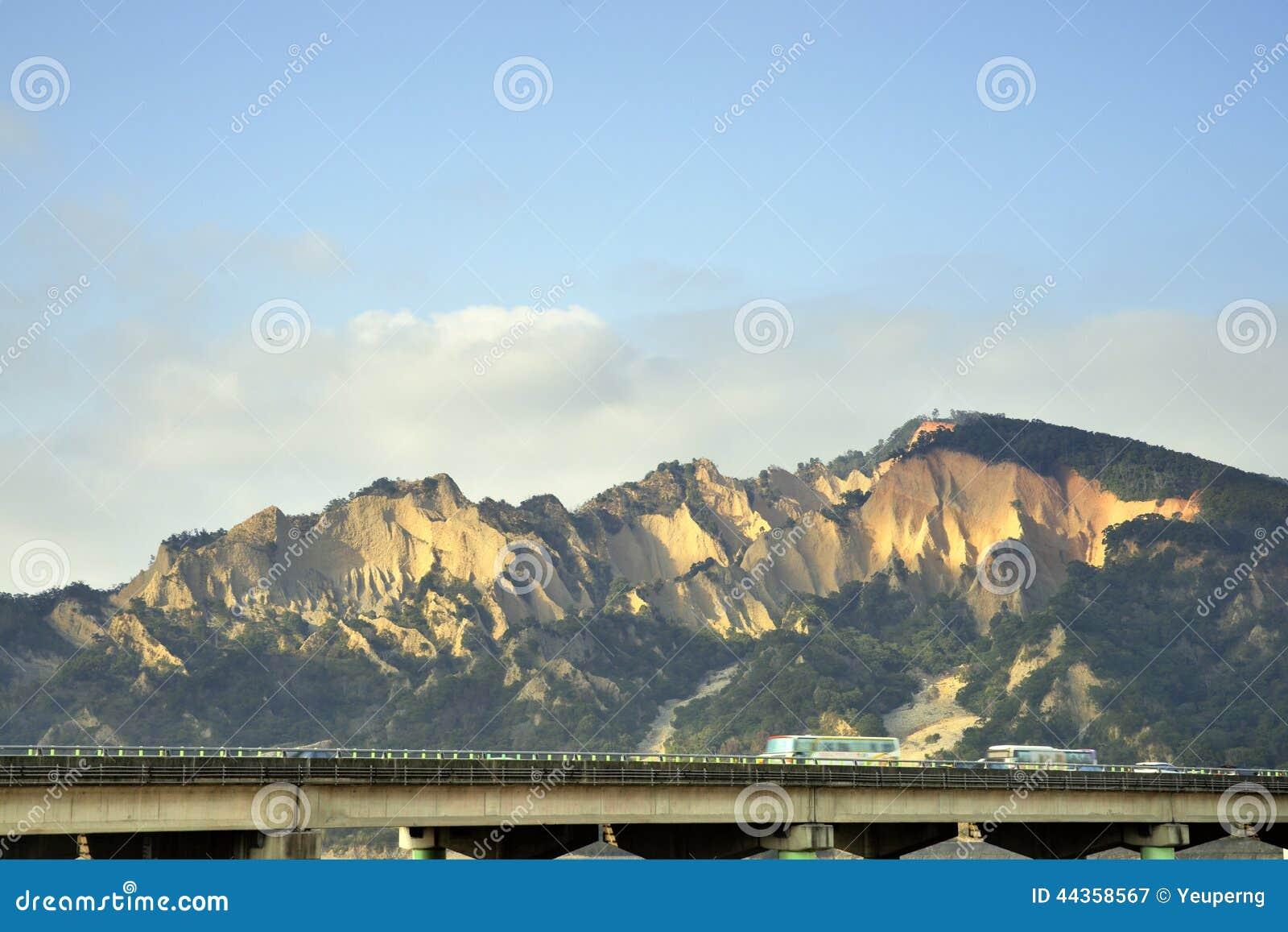Montagna dello Huoyan-Shan (fiamma) (paesaggio di Taiwan)