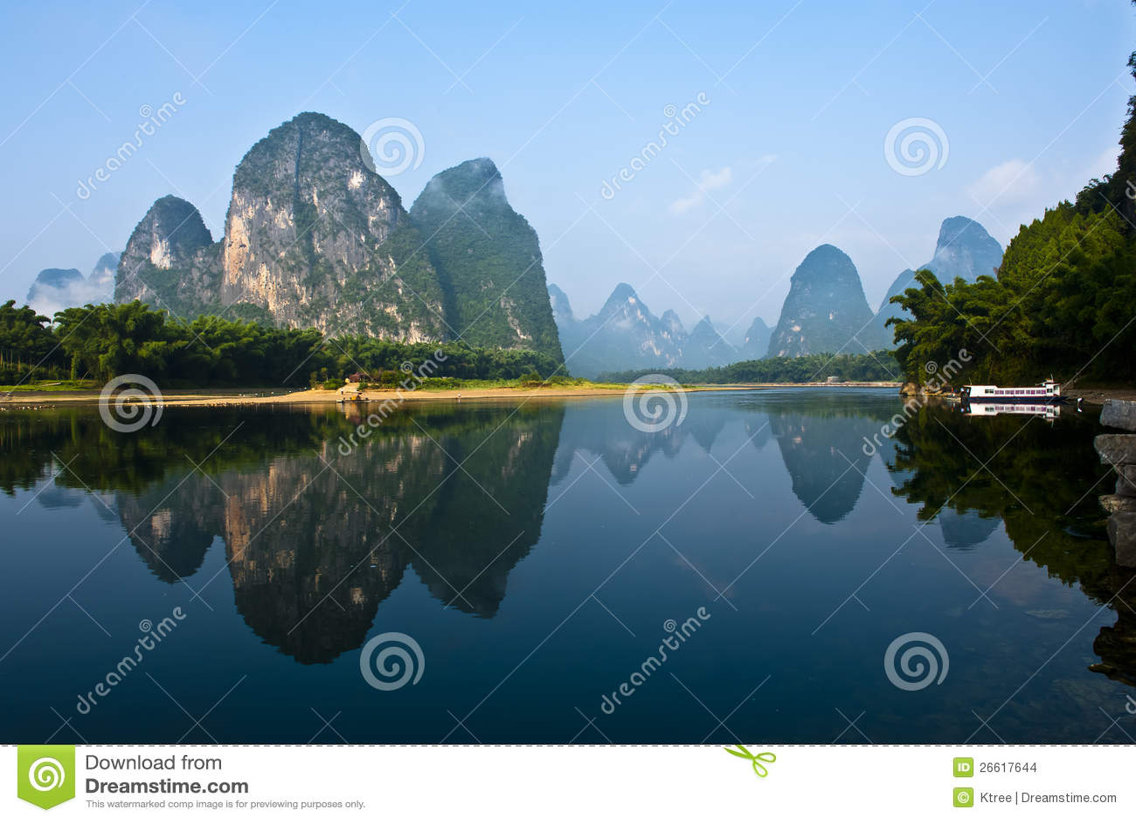 Montagna in fiume Li