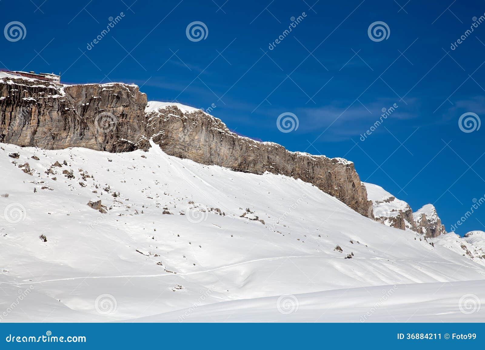 Download Montagna Ricoperta Neve Ridge Immagine Stock - Immagine di vista, scenico: 36884211