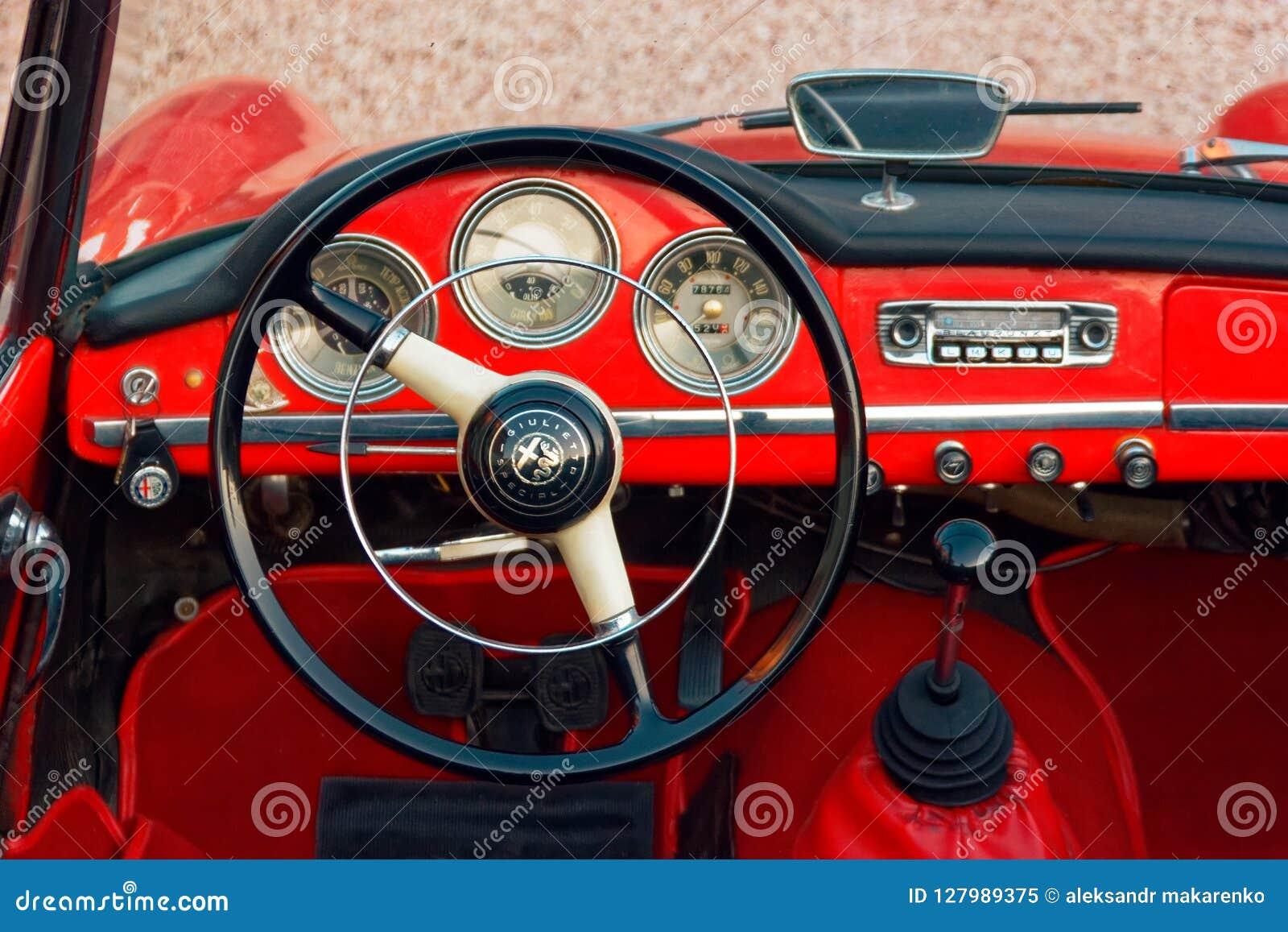 Montagnana Italy August 27 2018 Retro Car Alfa Romeo Convertible