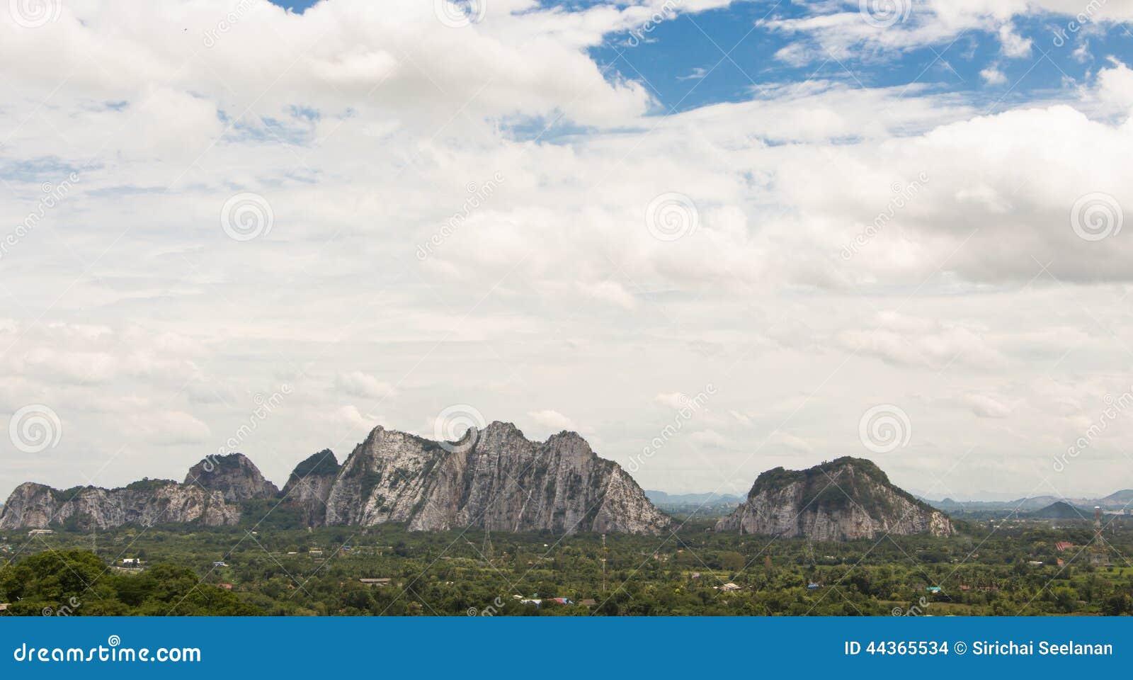 Montagne con il fondo delle nuvole - struttura