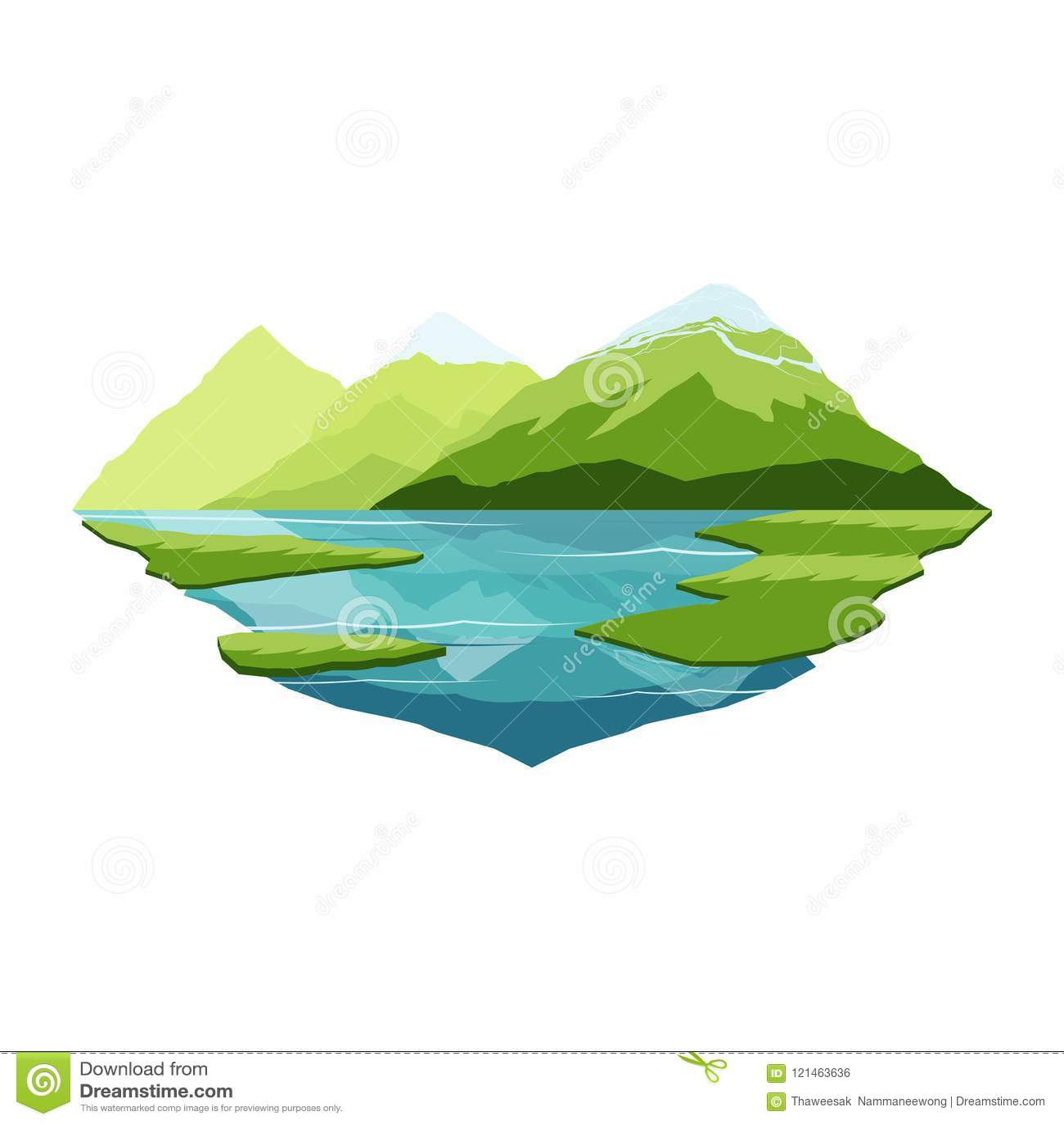 Montagne de l Alaska et paysage de réflexion de lac
