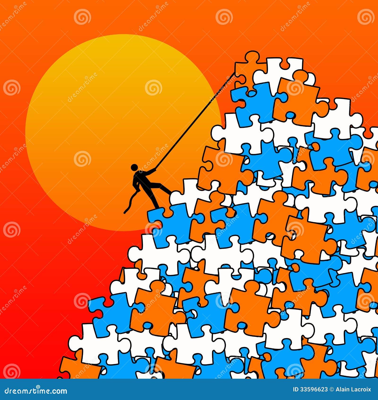 Montagne de puzzle