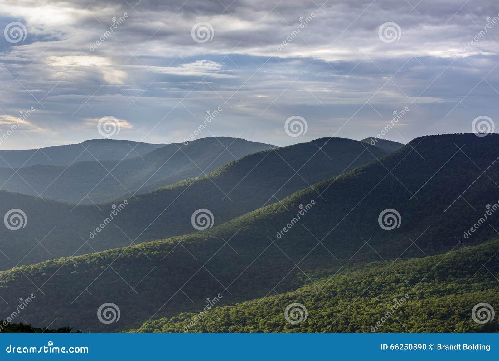 Montagne di Catskill di estate