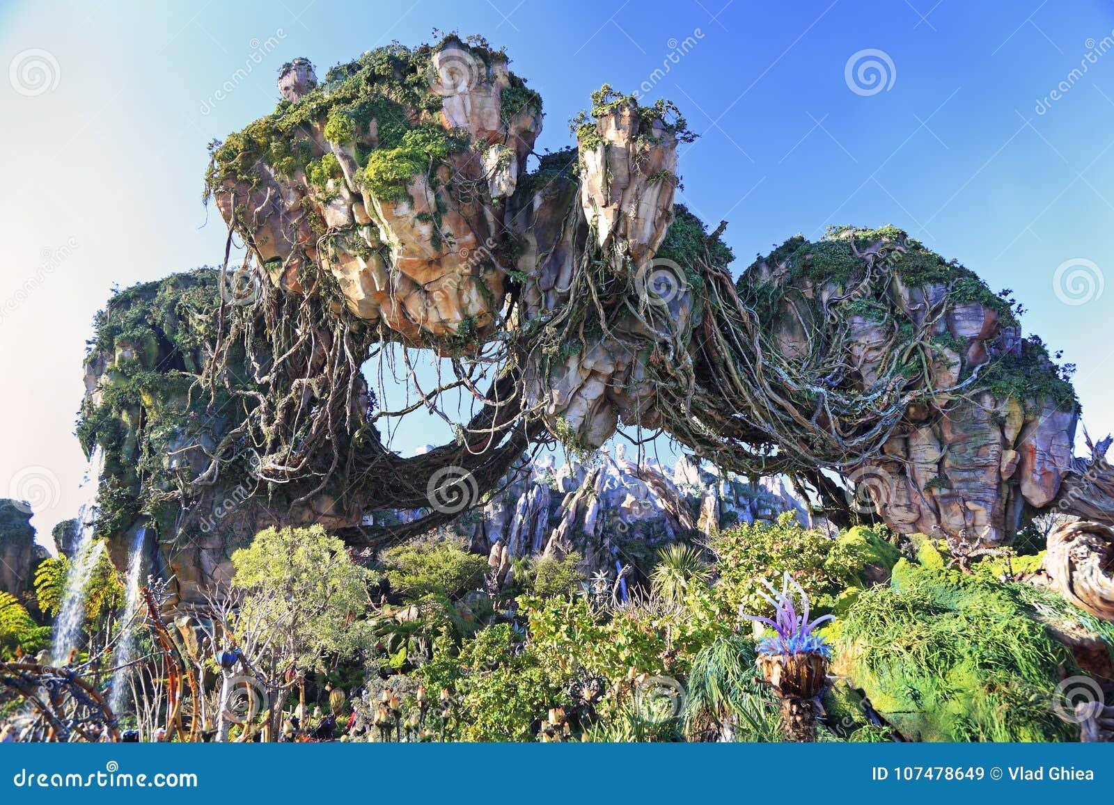 Montagne di galleggiamento in Pandora, terra dell avatar, regno animale, Walt Disney World, Orlando, Florida