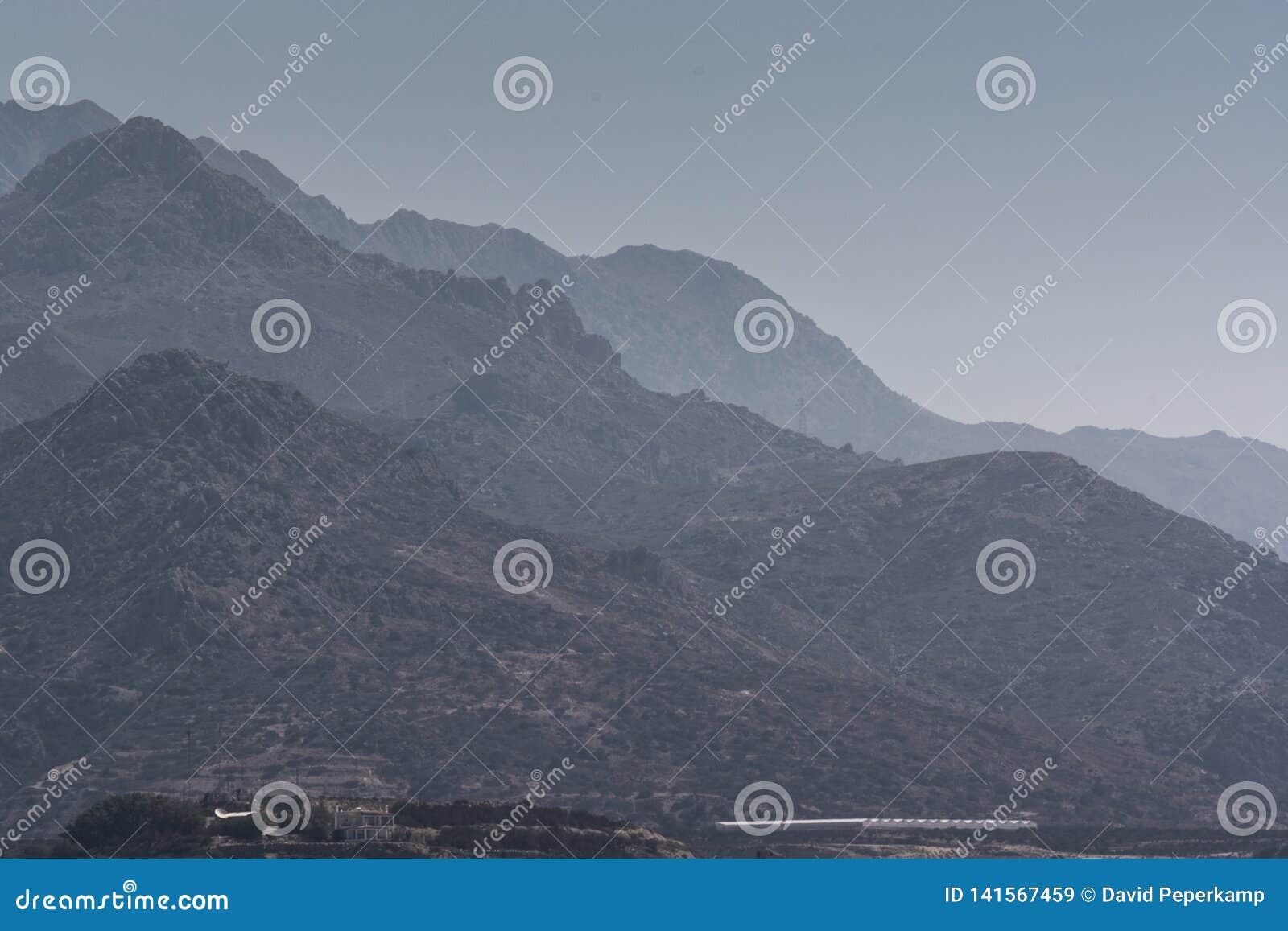 Montagne di vista di Panoramatic, Creta Grecia
