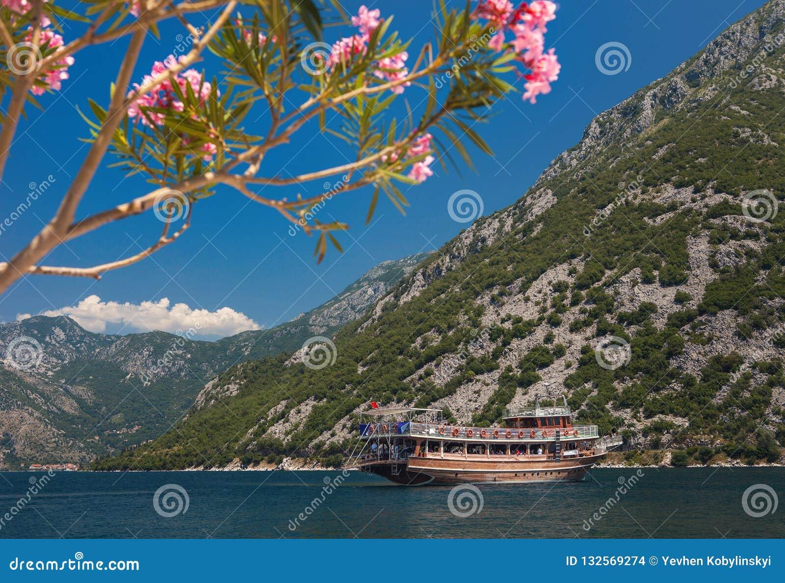 Montagne e fiori Barca nel mare montenegro