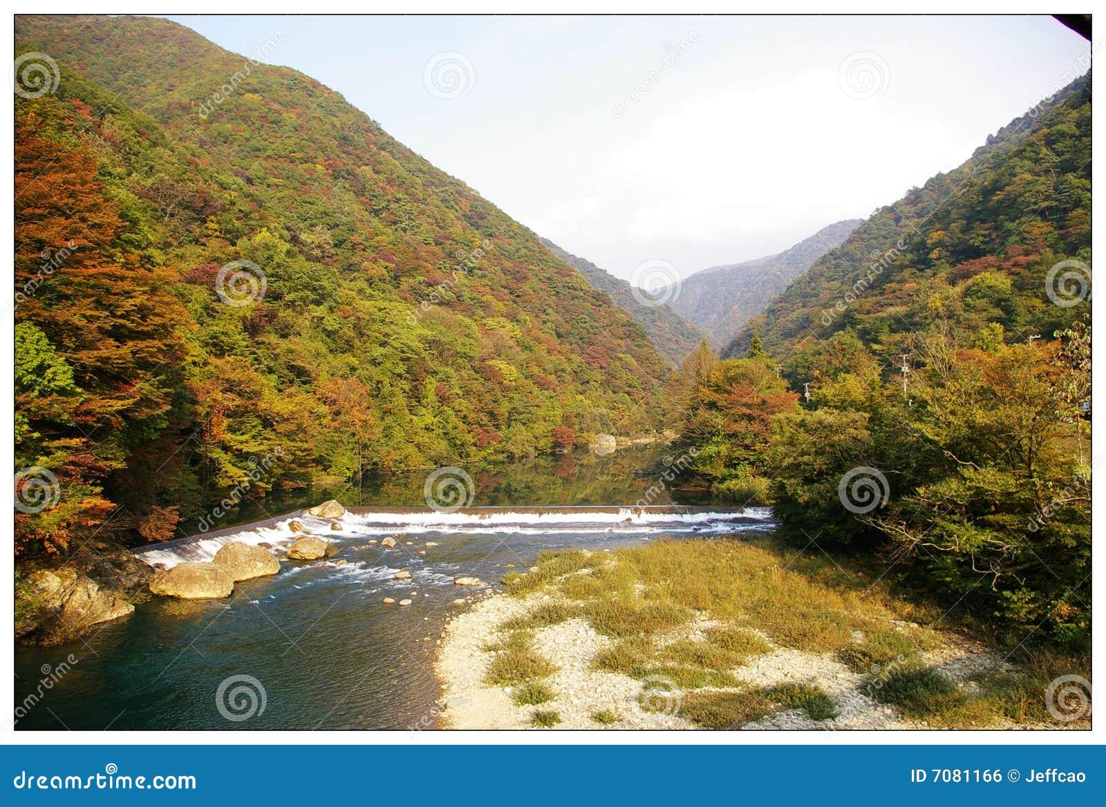 Image libre de droits: montagne et fleuves du nord est du japon