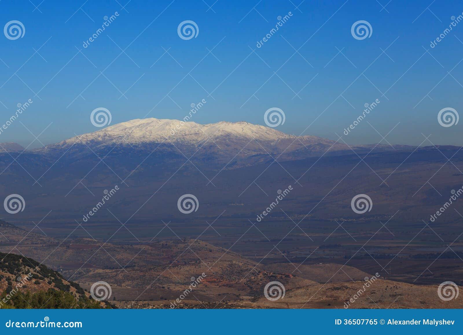 Montagne Hermon, Israël de neige