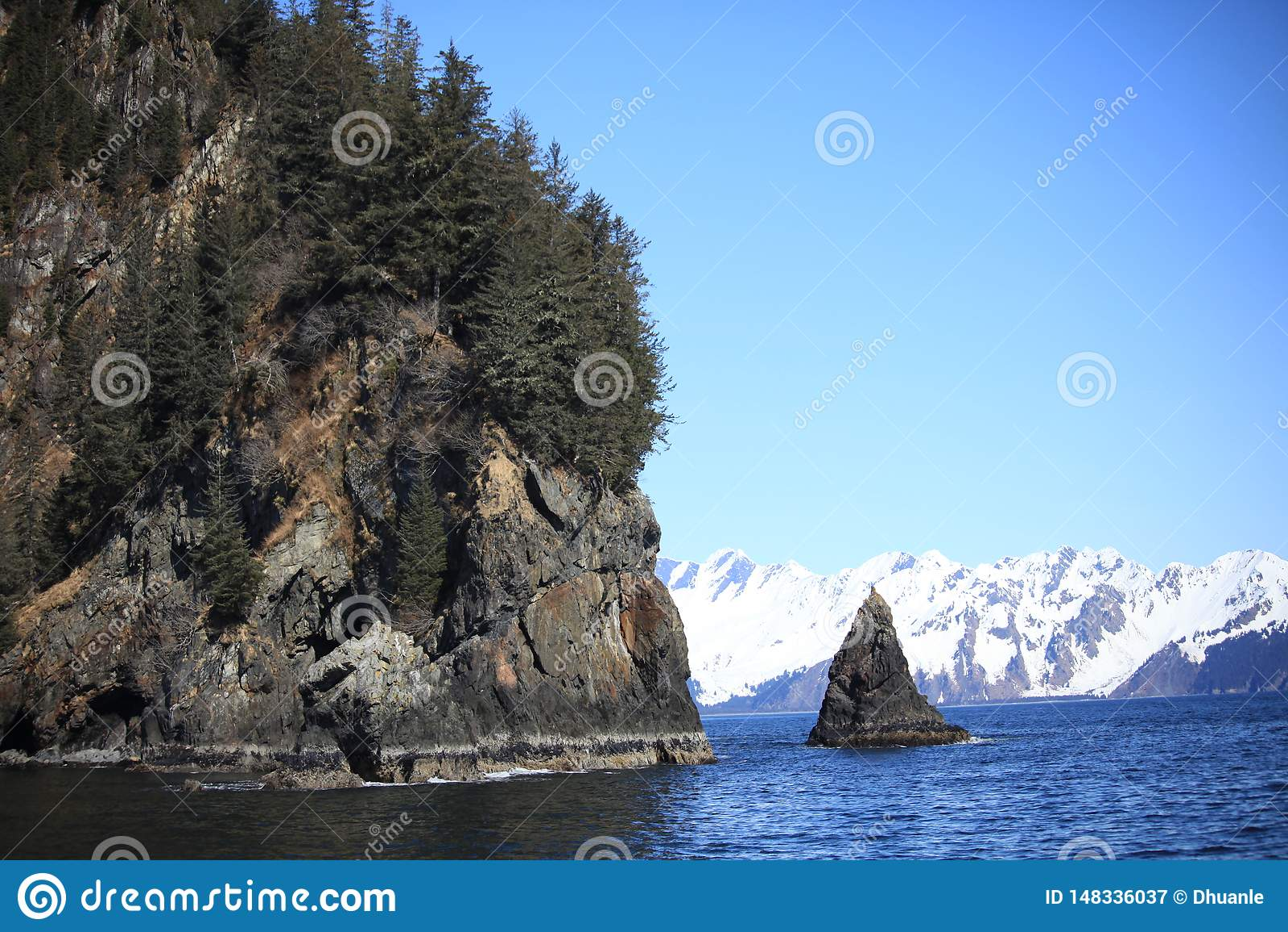 Montagne, mer, neige, roche