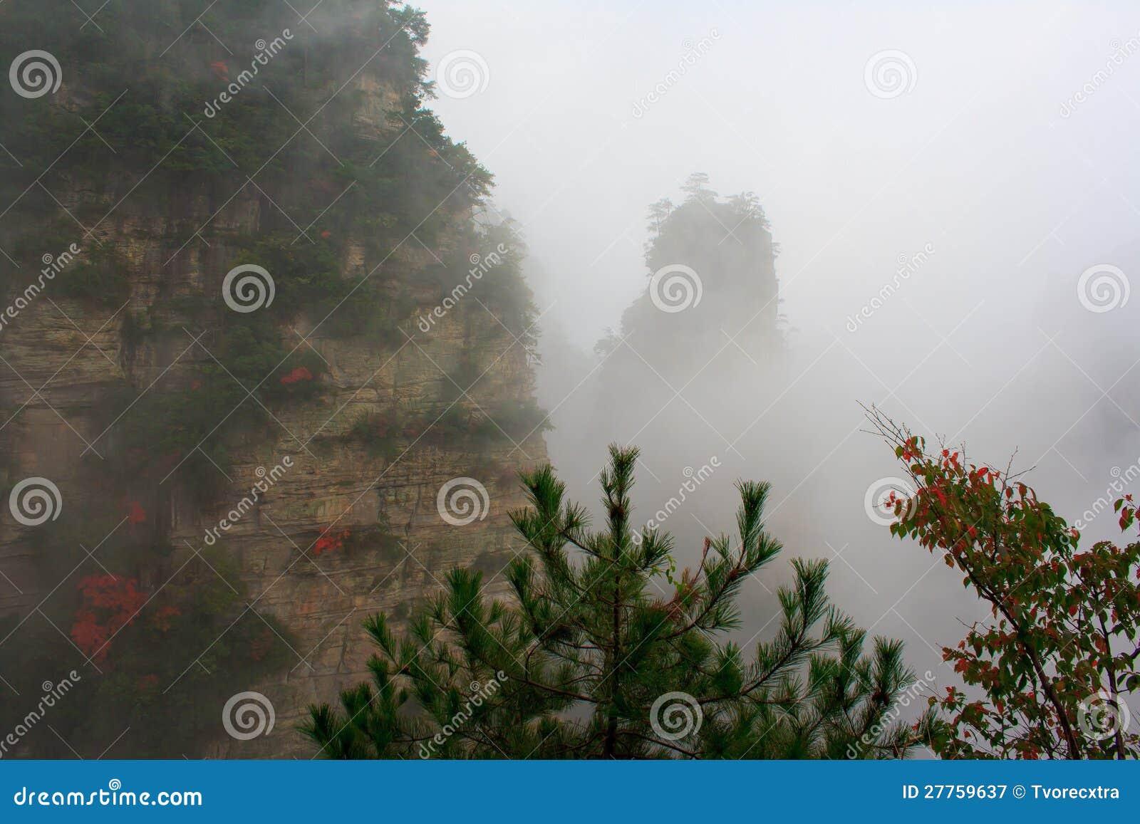 Montagne mystérieuse Zhangjiajie.