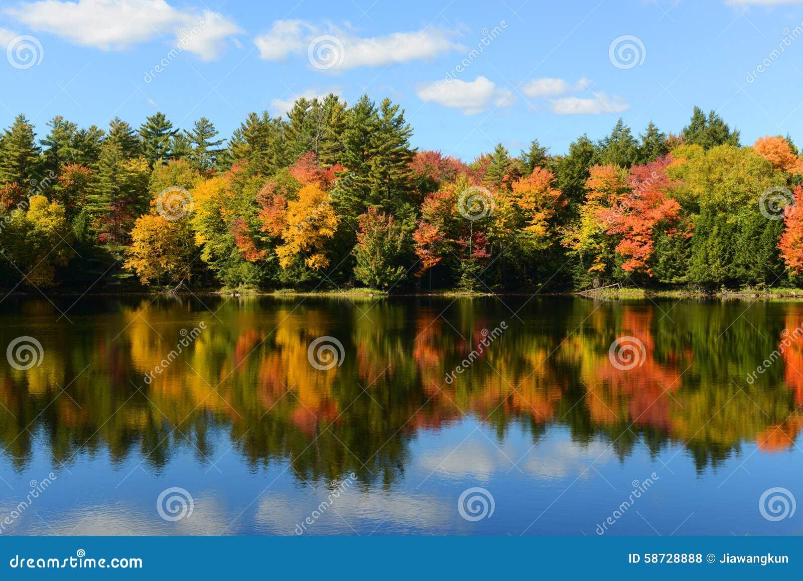 Montagnes d Adrondack dans l automne, New York, Etats-Unis