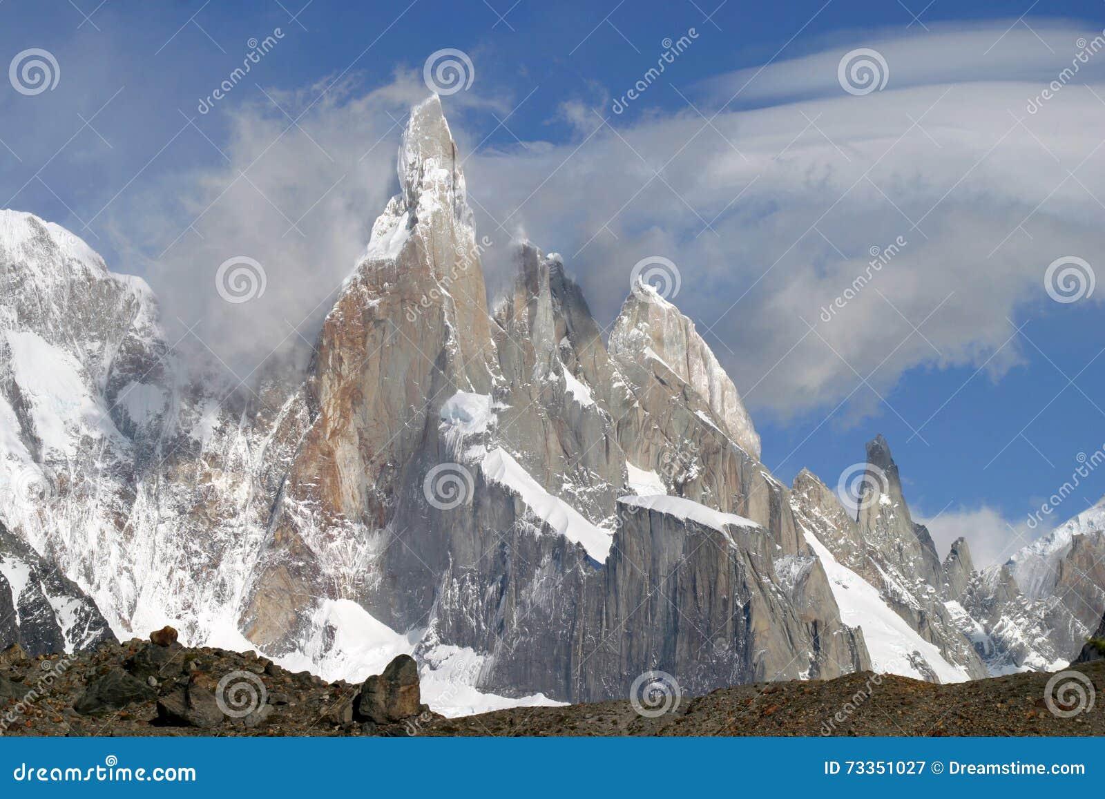 Montagnes dans le Patagonia