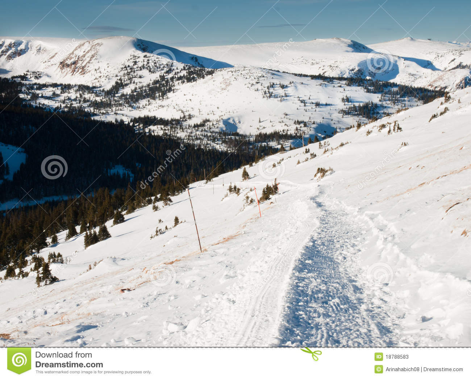 Montagnes de neige