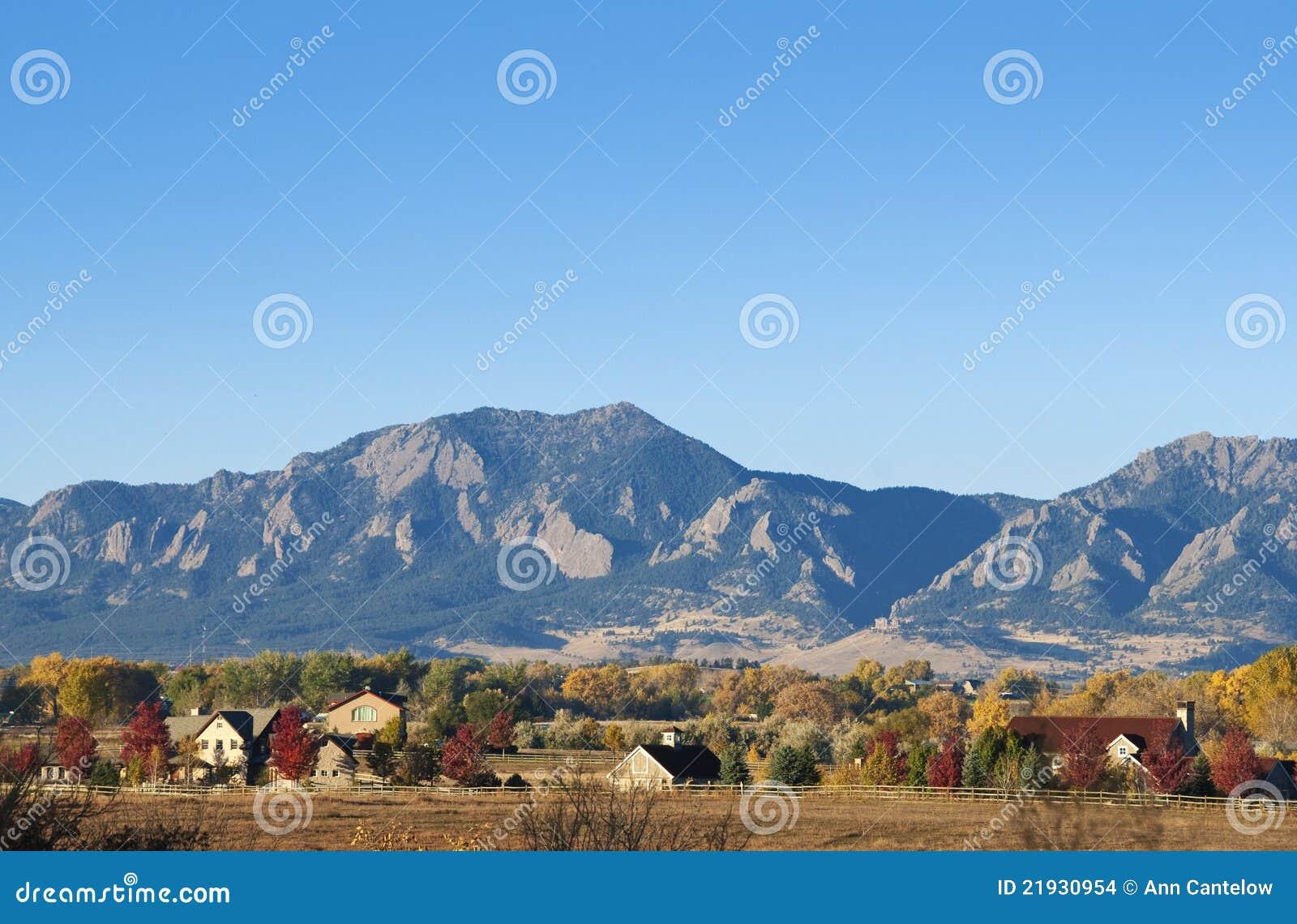Montagnes et fermes
