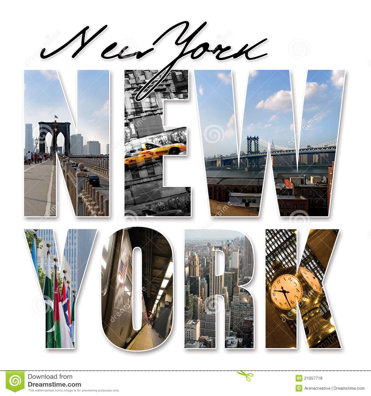 Montajes Del Gráfico De NYC New York City Stock de ilustración ...