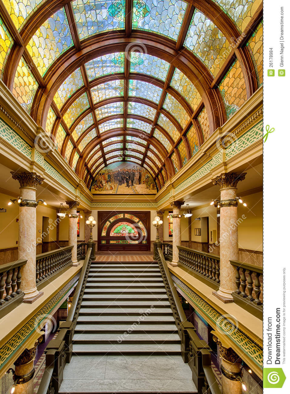 Montana Capitol Buildings Stairs Stock Images Image