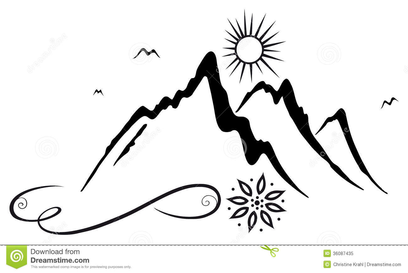 Monta amp241eses Y clipart Mountain Hiking Clip Art