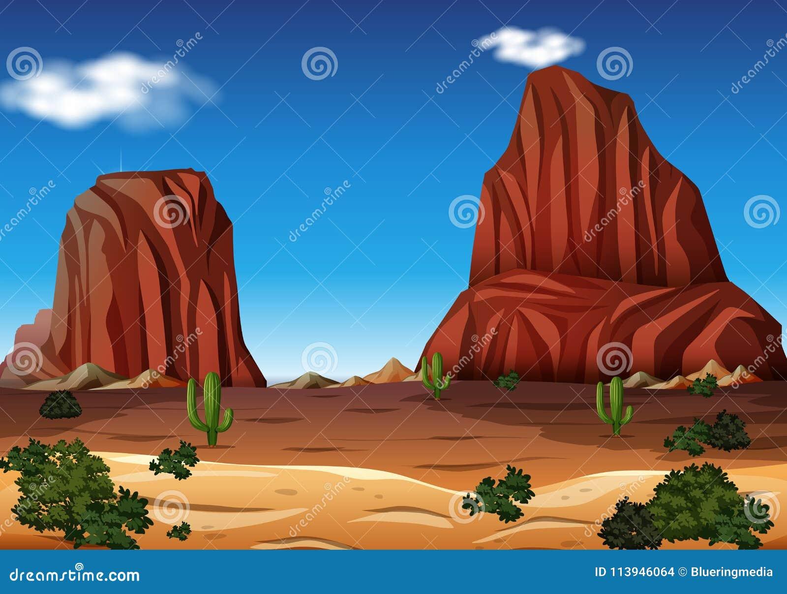 Montanha da rocha no deserto