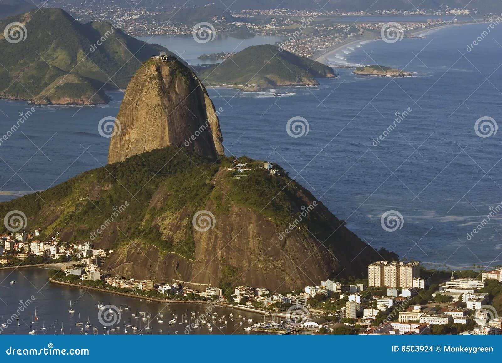 Montanha do naco de açúcar, Rio de Janiero, Brasil