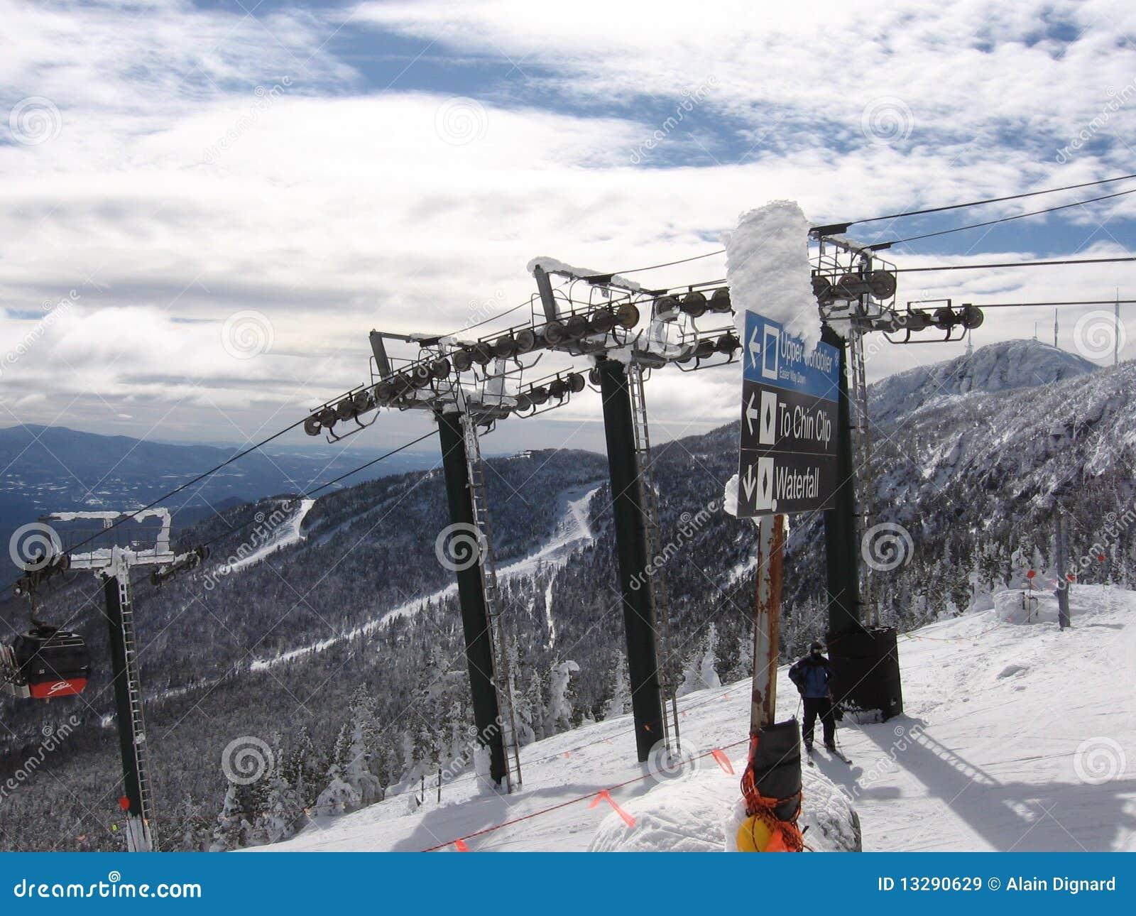 Montanha Vermont da neve
