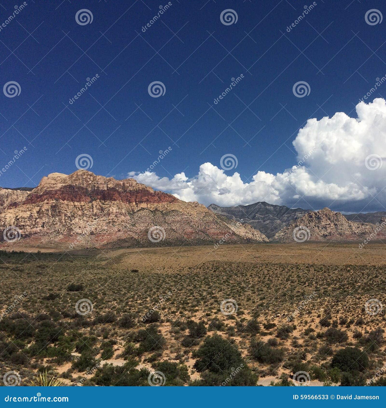 Montanhas do vermelho de Las Vegas