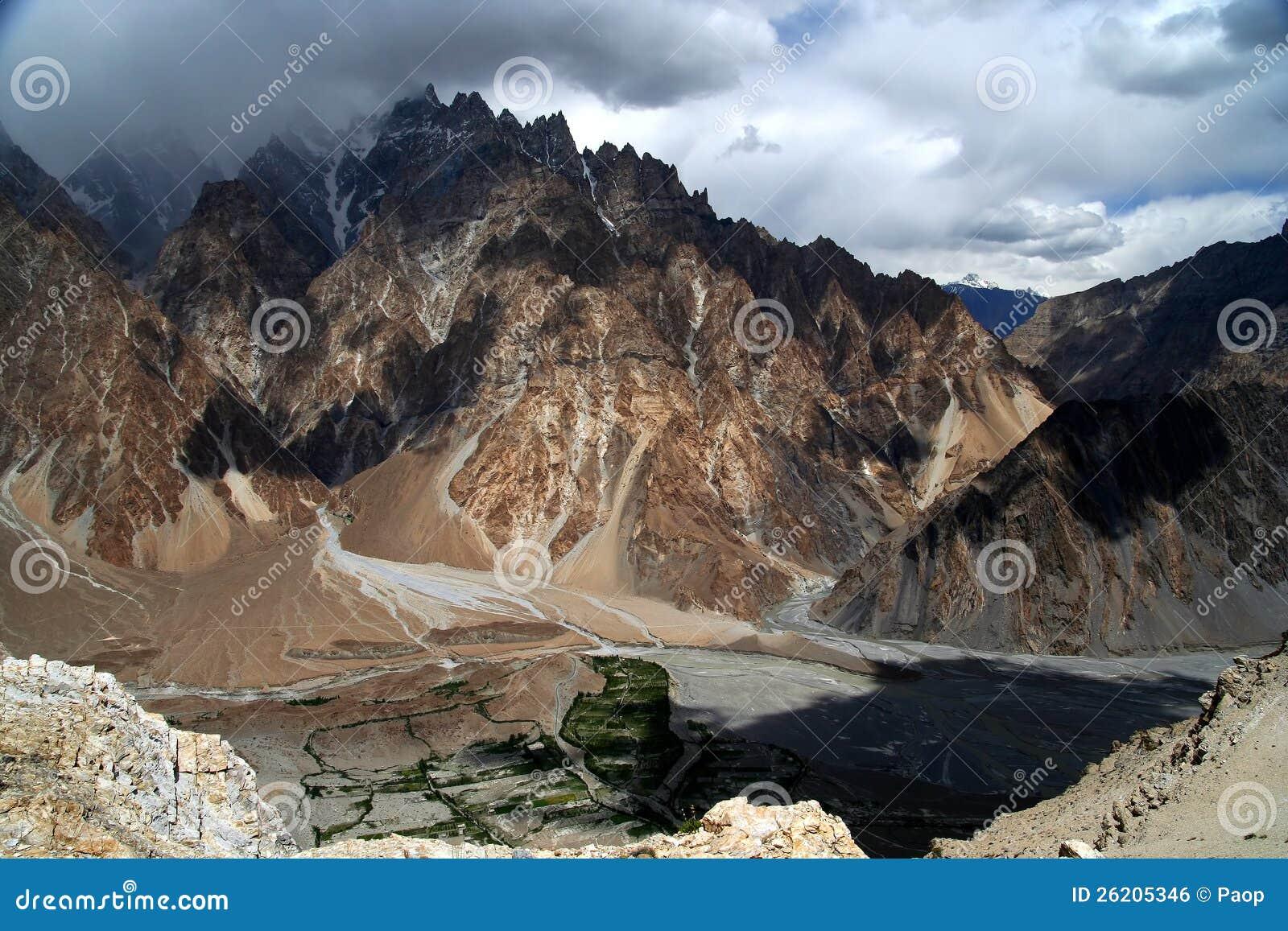 Montanhas impressionantes de Karakorum
