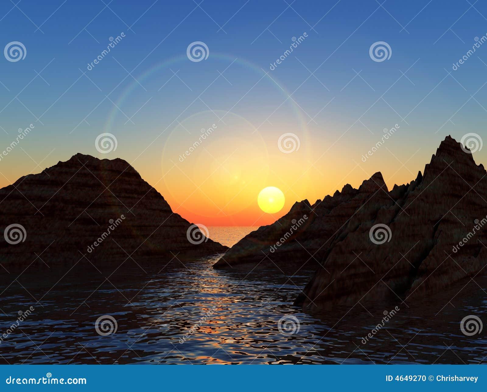 Montanhas na água 4