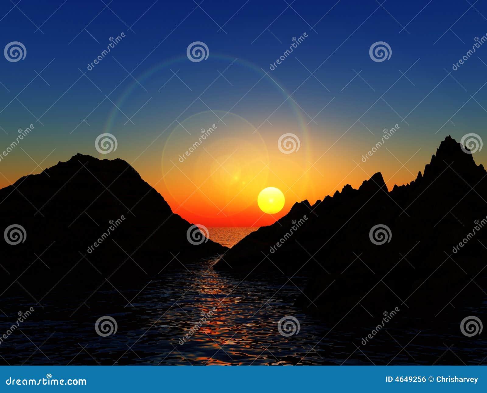 Montanhas na água