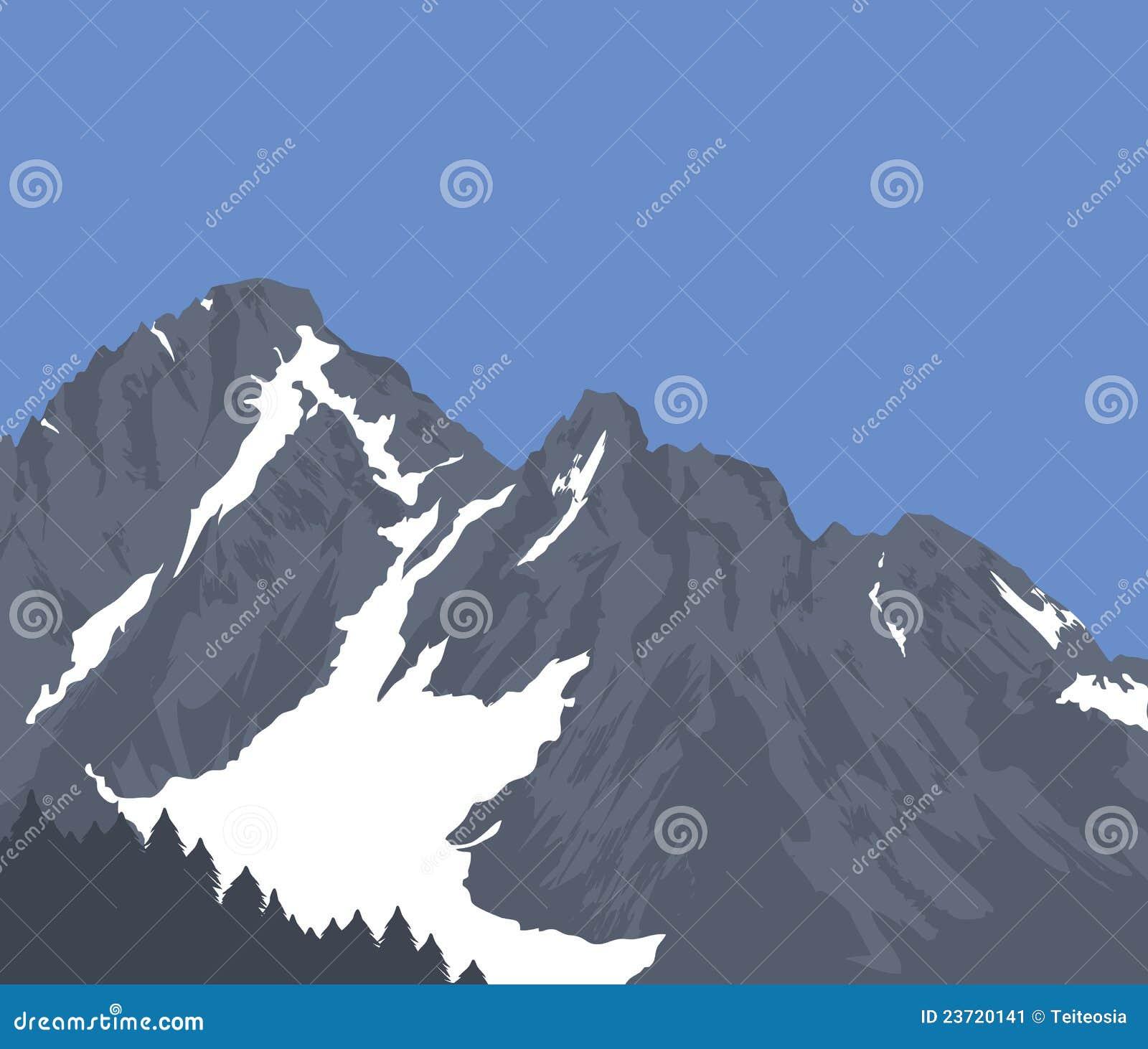Montanhas tampadas neve