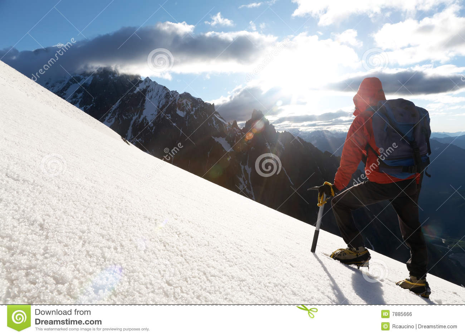 Montanhista de montanha