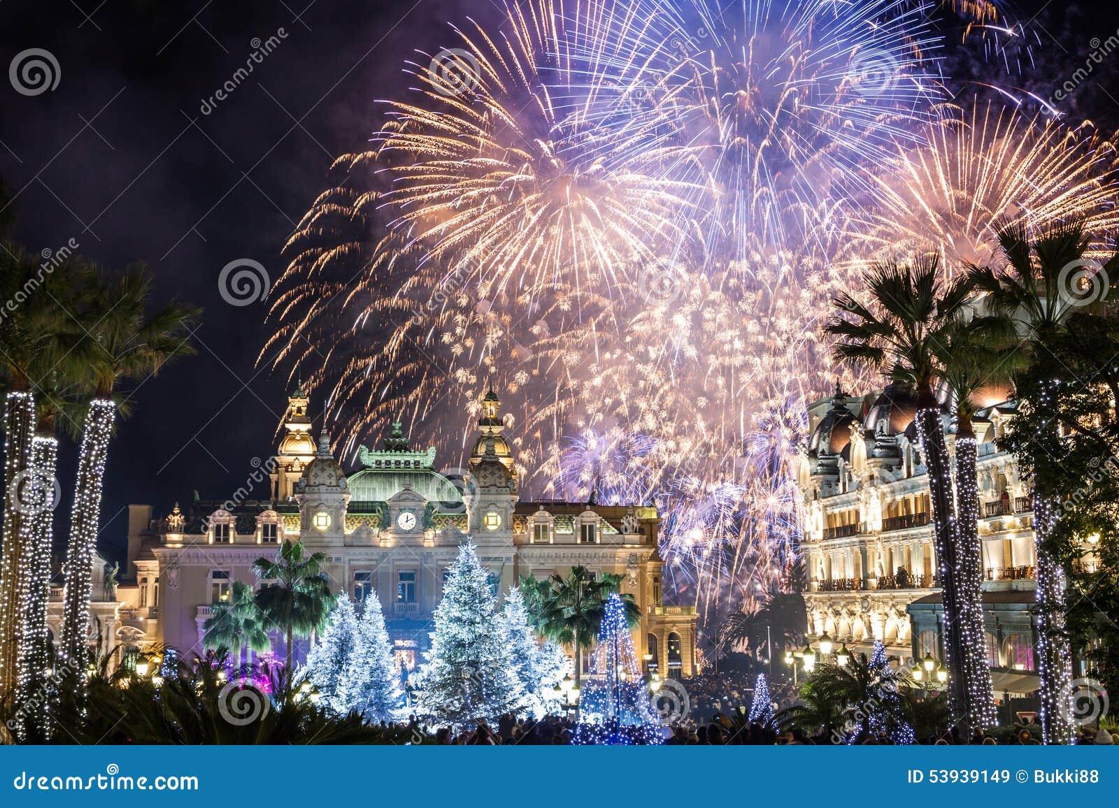 Monte Carlo Casino durante le celebrazioni del nuovo anno