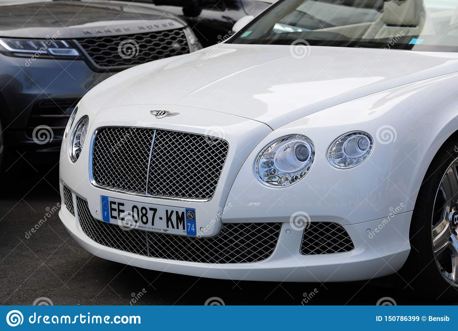 White Bentley Continental Gt Editorial Stock Image Image Of Black Bentley 150786399
